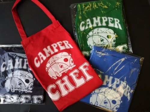 MENS WOMENS BBQ CHEFS COOKS APRONS CAMPER VAN STYLE VARIOUS COLOURS
