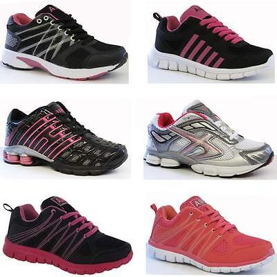 Señoras formadores Para Mujer Chicas Deportes caminando de lazada en la Escuela Gimnasio tamaño de zapato