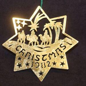 1982 Biedermann Annual Hand Cut Brass Commemorative ...