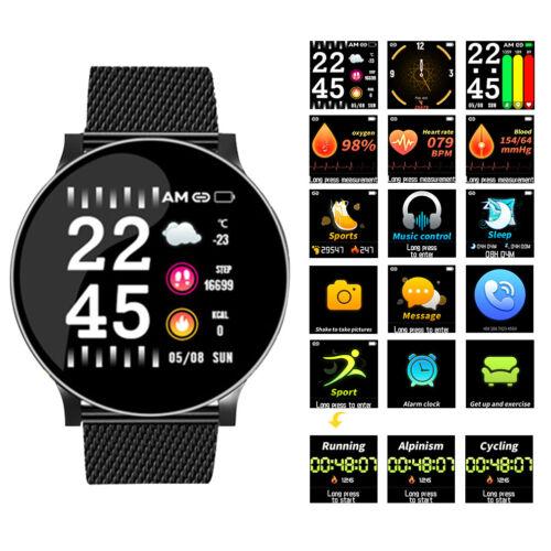 Sports Armband Uhr Smartwatch Pulsmesser Wasserdicht für Damen Herren NEU