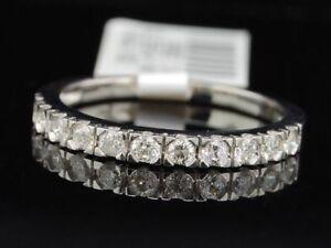 14k-White-Gold-Round-Cut-Diamond-Anniversary-Wedding-Band-Ring-1-3-Ct