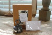 Pottery Barn Set Of 4 Gourd Pumpkin Metal Place Card Holders Thanksgiving