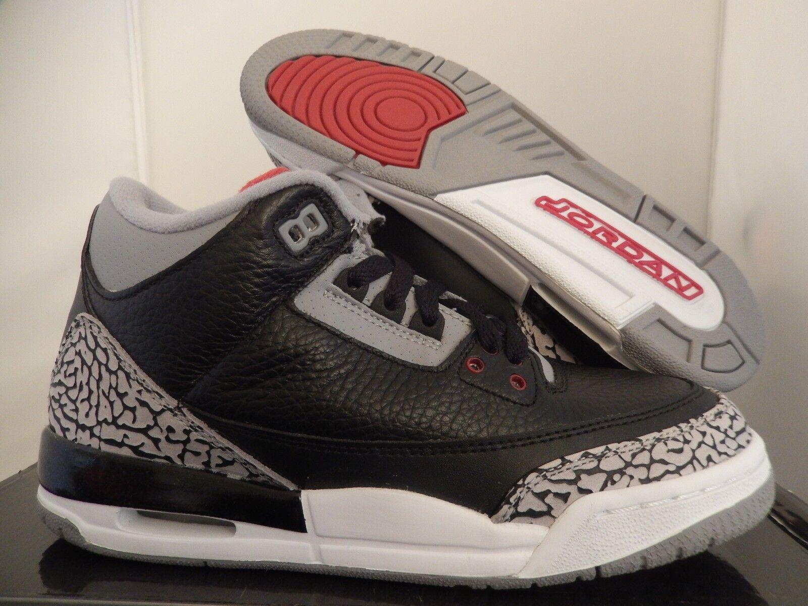 Nike Y Air Jordan 3 Retro (Gs) Negro-Rojo-cemento Y Nike - Para Mujer [398614-010] c7e911