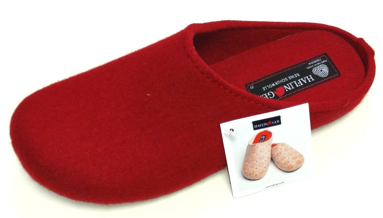 Haflinger Everest Fundus Damen 0 Hausschuh Pantoffel Pantolette 481024 0 Damen 11 rubin d6cc77