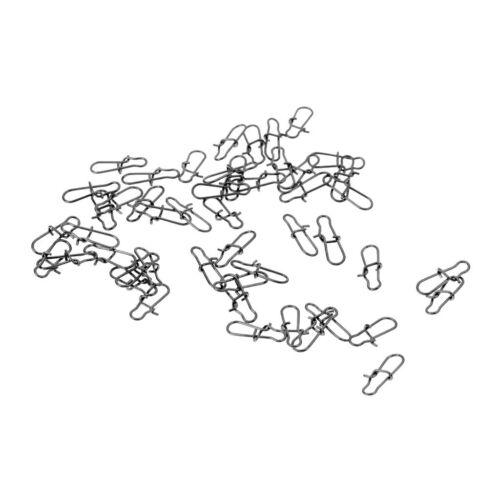 100 Stücke Angeln Stecker Karabiner für Wirbel Clips Sea Rig Angelgerät