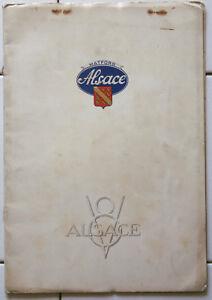 AUTOMOBILIA-Brochure-publicitaire-ALSACE-MATFORD-V8-voiture-car-ad-pub-plaquette