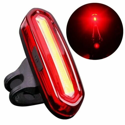 COB LED Bicycle Bike Cycling Front Rear Tail Light USB Rechargeable 4//6 Modes