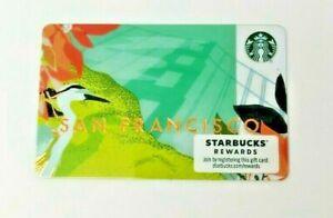 Starbucks San Francisco Card With Zero Balance SF Gift Card