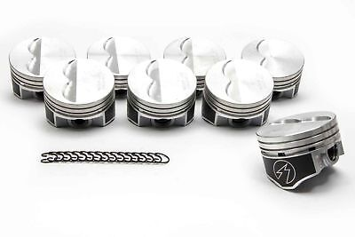 Speed Pro Chevy 350 Hypereutectic Flat Top 2VR Pistons + rings Set/8 9.7:1 +.030