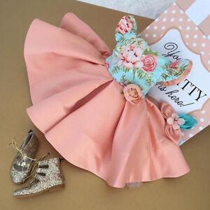 US-Formal-Kids-Flower-Girl-Dress-Princess-Bridesmaid-Party-Wedding-Pageant-Dress