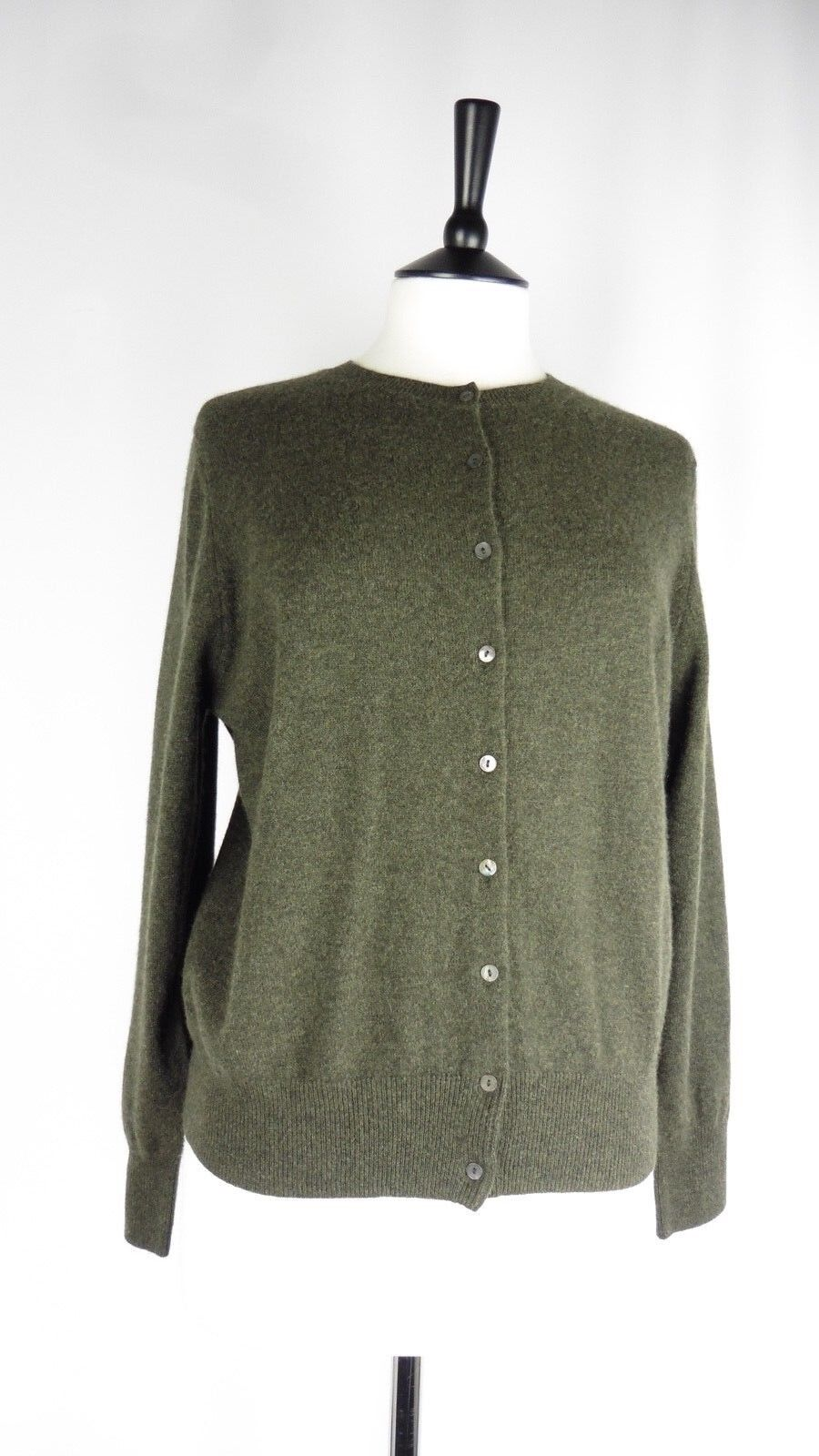 .. Autograph New Cashmere Size 20 Cardigan Marks & Spenser Green