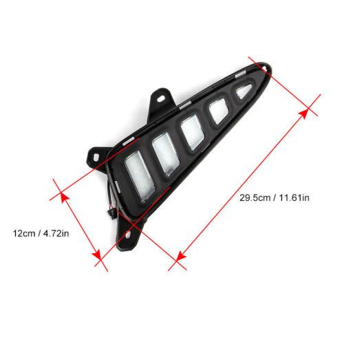 2x LED Daytime Run Light Driving Fog Lamp DRL Turn Signal Amber for Toyota C-HR