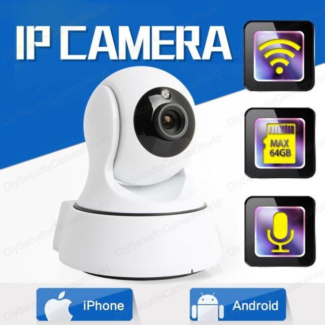 720P HD Pan/Tilt Home Wireless Security Camera WiFi IP Webcam IR Night Vision PA