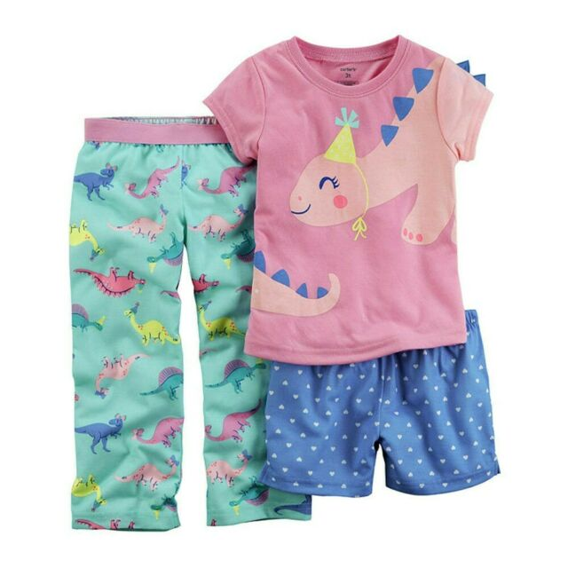 Pretty And Colorful Sleepwear Clothing, Shoes & Accessories Lower Price with Peppa Pig Dinosaur 4 Piece Pajamas Size 2t 3t 4t 5t New