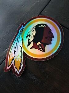Holographic Washington Redskins STICKER - NFL Logo Red Skins Football vintage