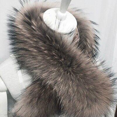 "28*5"" long Fox fur collar warm winter Coat Sweater Scarves Fur Neck warps"