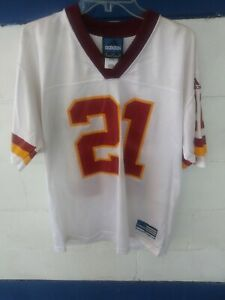 the latest d1614 700a8 Details about Deion Sanders Washington Redskins Adidas #21 NFL Football  White Jersey