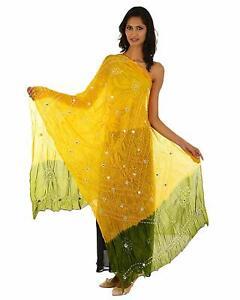 Veil Tie /& Dye KKSM Bhandej Neck Head Wrap Sarong Tafetta silk Stole Hijab