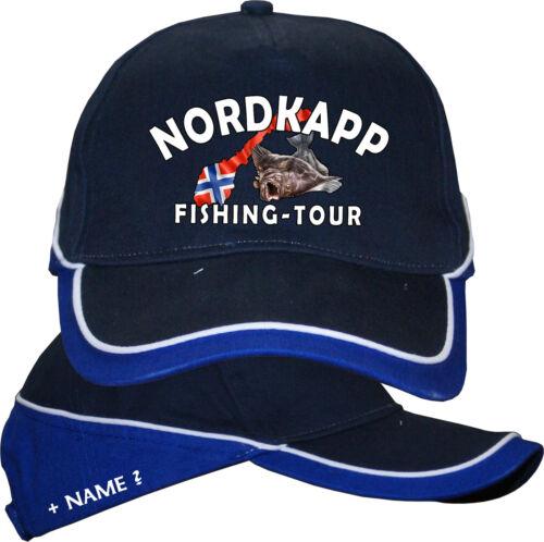 Nordkapp Angelreisen Norwegenangeln Norwegen Anglerhut Angeln Basecap Kappe 62