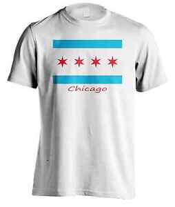 Men S Chicago Flag T Shirt Usa Fashion Summer Outdoor Sports Graphic