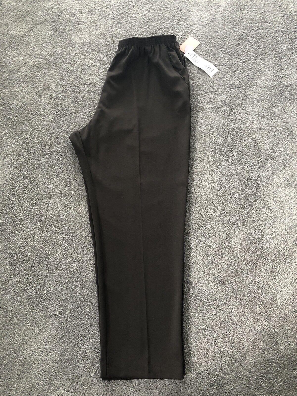 NEW Mariani Brown Pants With Elastic Waist. Sz 30. MAR 380