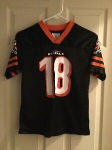 183aeb5cf AJ Green Cincinnati Bengals #18 Black Jersey NFL Team Size Youth ...