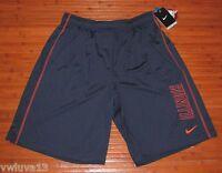 NWT Mens Nike NCAA Dri-FIT Illinois Fighting Illini Training Fly Shorts Blue-S