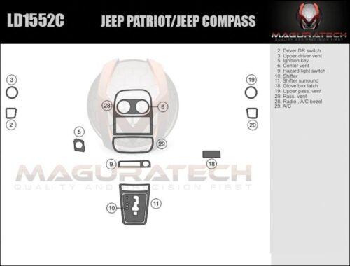 Fits Jeep Patriot 2010-2017 Basic Premium Wood Dash Trim Kit