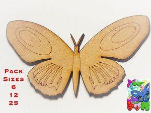 Humoristique Divers Taille Packs & Tailles 2 Cm à 10 Cm Papillon Embellissements 3 Mm Mdf #03-afficher Le Titre D'origine Vente De Fin D'AnnéE