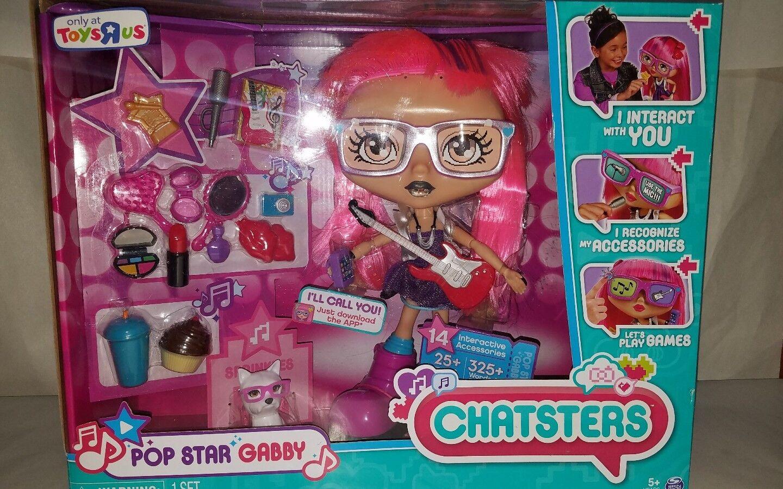 Chatsters Gabby Pop Star interactivo hablando Chat animado Muñeca Nuevo Toys R Us