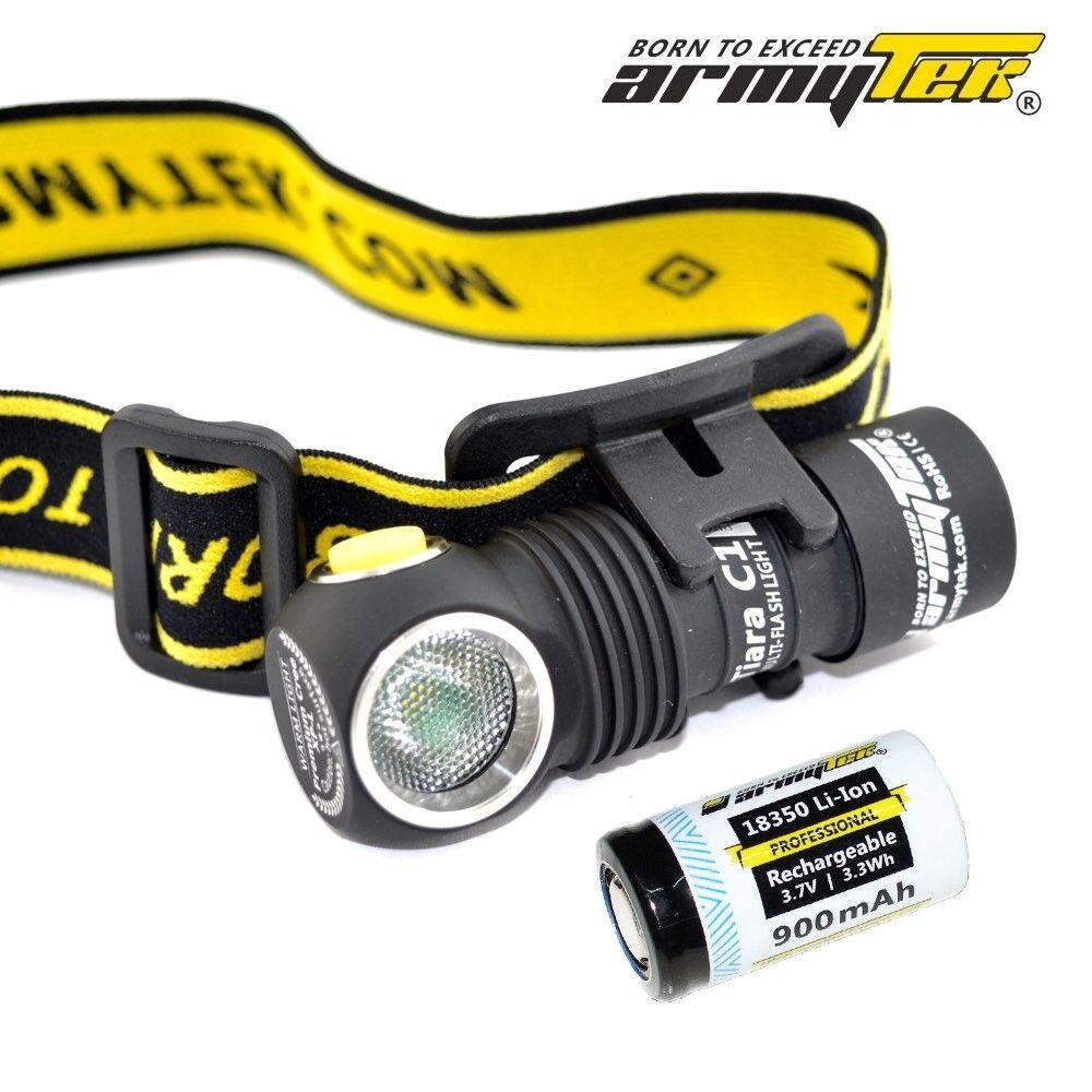New Armytek Tiara C1 Magnet USB Cree XP-L 980 Lumens LED Headlight With 18350