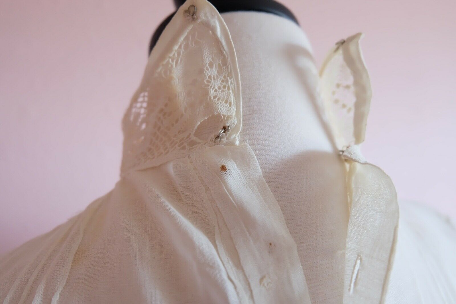 Antique Edwardian Women's Embroidered an Lace Ple… - image 7