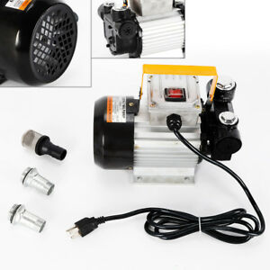 US 60HZ 15.75GPM 550W Electric Diesel Oil And Fuel Transfer Extractor Pump Motor