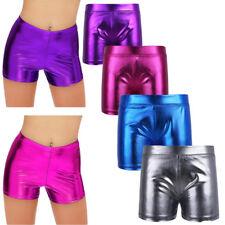 Booty Shorts Foil V Front Purple w// Gripper leg Wolff Fording Dance Costume