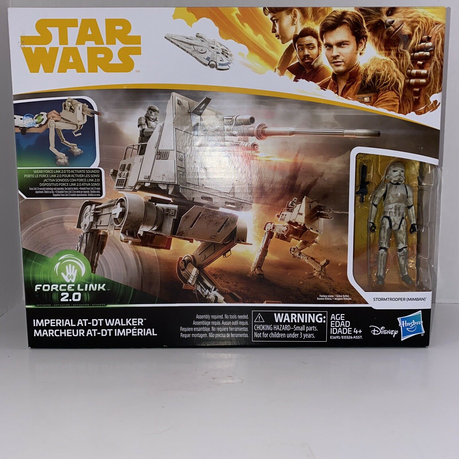 Star Wars Force Link 2.0 Imperial AT-DT Walker with Mimban Stormtrooper