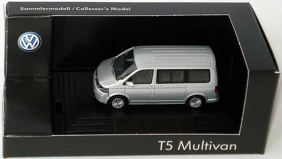 VW T5 7H Multivan TDI Bus Facelift 2010 Reflex plata 1 87 Wiking (Distribuidor Modelo)