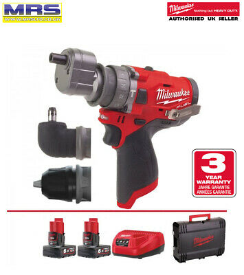 Milwaukee M12FPD-602X M12 Fuel Percussion Combi Perceuse 2 X 6ah