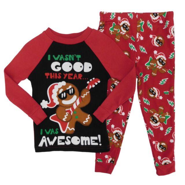 Toddler Boy Christmas Pajamas.Holiday Time Infant Toddler Boys Gingerbread Man Christmas Pajama Set