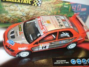 Svt) Scalextric Mitsubishi Lancer Series Limited à essence - échelle Slotcar au 1:32