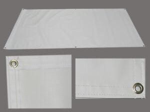 Blank Vinyl Sign Banner, 4 X 10, 13oz, white, grommets