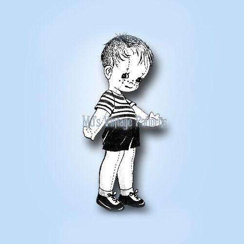 Vintage Boy Doll Pattern ~ Looks Like Trouble