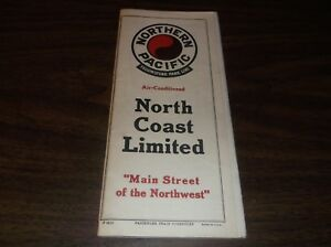 OCTOBER-1943-NP-NORTHERN-PACIFIC-RAILROAD-SYSTEM-PUBLIC-TIMETABLE-SCARCE-WWII