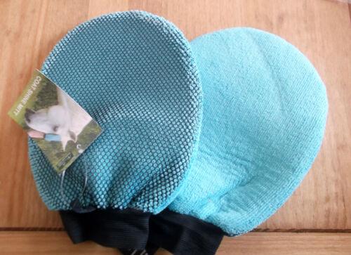 Moorland Rider Coat Shine Mitt Mit Grooming Glove Brush Showing Stable Horsebox