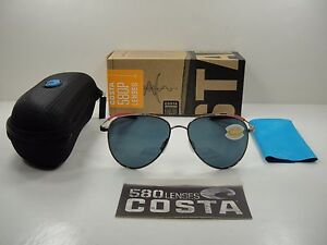 66809a173d COSTA DEL MAR COOK POLARIZED COO164 OGP SUNGLASSES ROSE GOLD GRAY ...