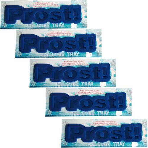 """/""""Prost!/"""" für 6 Eis-Würfel Silikonform 5x Eiswürfelform aus Silikon Schriftzug"""