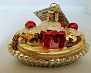"""Old World /""""English Riding Boot/"""" Horse Christmas Glass Ornament NWT"""