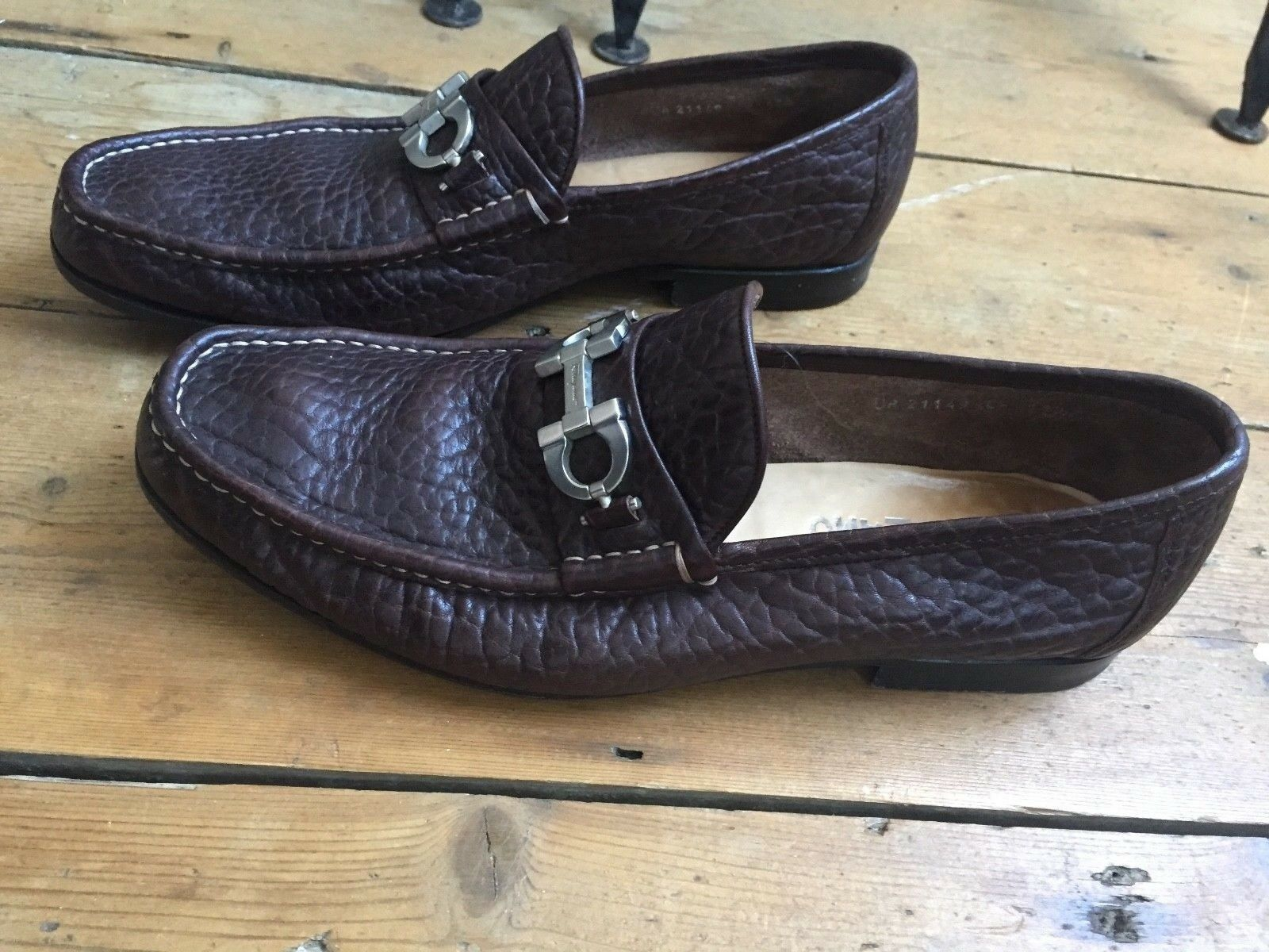 Ferragamo salvatore  mens shoes mocacine  size 11.5.EE...