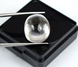 Oval Cabochon 13.55 Ct White Sapphire Loose Birthstone Natural Certified A28373