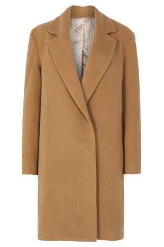 feutre Sugarhill en Manteau boutonné col Juana Boutiquewomens simple Tan avec en feutre CwP6fPq