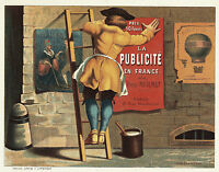 Man Posting Ad For La Publicité En France Par Emile Mermet Giclee 8 X 10 Print